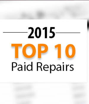 Top 10 Warrantywise Car Repair Bills Paid in 2015