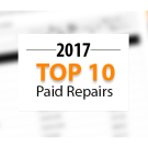 Top 10 Warrantywise Car Repair Bills Paid in 2017
