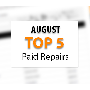 Top 5 Warrantywise Car Repair Bills Paid in August 2017