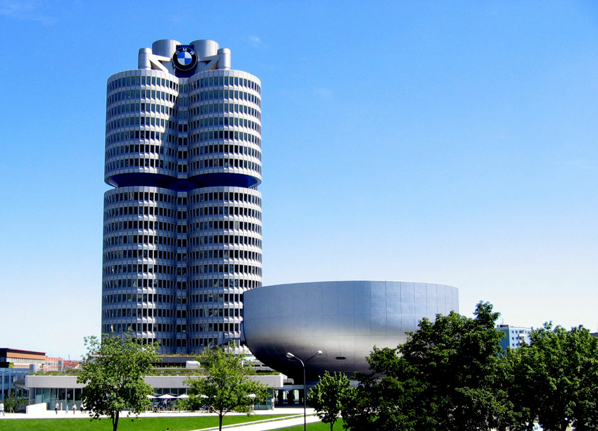 BMW Headquarters Shaped like four-cylinder engine