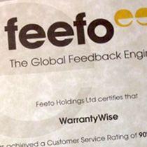 Warrantywise Achieve Industry High Customer Satisfaction Rating