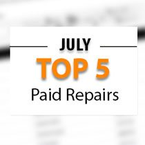 Top 5 Warrantywise Car Repair Bills Paid in July 2017