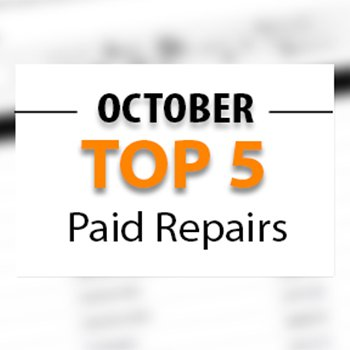Top Paid Repair Bills Paid in October 2017