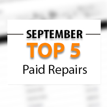 Top 5 Warrantywise Car Repair Bills Paid in September 2017