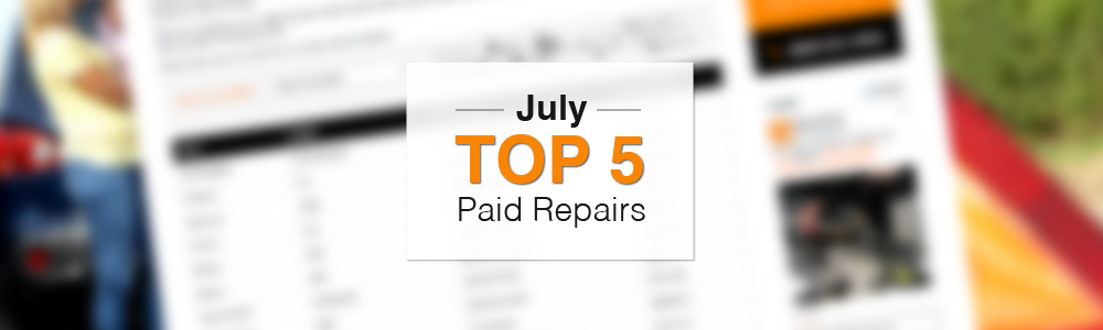 Top 5 Warrantywise Car Repair Bills In July