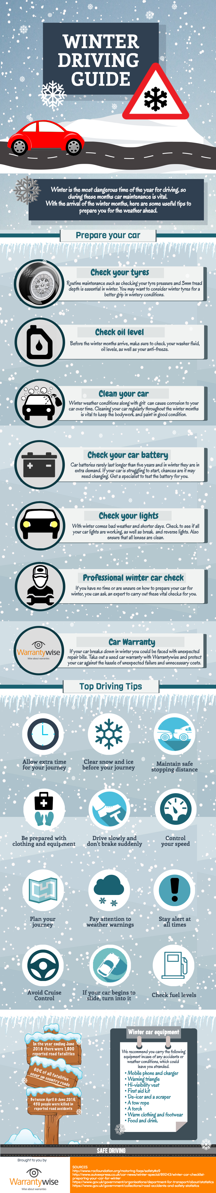 Winter Driving Guide Infographic