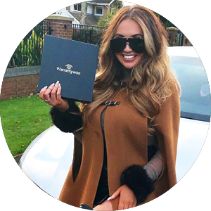 Celebrity Charlotte Dawson holding a plan documents from warrantywise